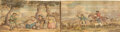 Books:Fore-edge Paintings, [Fore-Edge Painting]. Joseph Strutt. Glic Gamena Angel Deod, or the The Sports and Pastimes of the People of Eng...