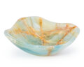Lapidary Art:Carvings, Blue Calcite Bowl. Andes Mountains. Argentina. South America. 7.09 x 5.59 x 2.17 inches (18.00 x 14.20 x 5.50 ...