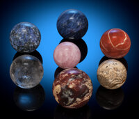 Collection of 7 Spheres Africa Largest Sphere Measures: 3 inches (7.6 cm) in diameter