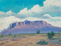 Eugene Bonfanti Thurston (American, 1896-1993) Superstition Mountains Oil on canvas 18 x 24 inches (45.7 x 61.0 cm)