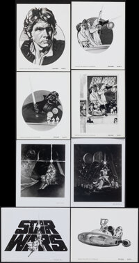 """Star Wars (20th Century Fox, 1977). Overall: Very Fine. Ad Art Photos (8) (8"""" X 10""""). Science Fiction. ... (To..."""