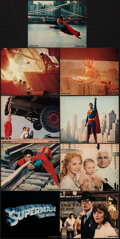 """Movie Posters:Action, Superman the Movie (Warner Bros., 1978). Very Fine. Deluxe Mini Lobby Card Set of 9 (8"""" X 10"""") & Deluxe Lobby Cards (6) (11""""... (Total: 15 Items)"""