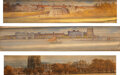 Books:Fore-edge Paintings, [Winifred Arthur]. Walter Besant. Group of Three Books in Fazakerley Bindings with Fore-Edge Paintings by Winifred Arthur. L... (Total: 3 Items)