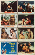 """Movie Posters:Science Fiction, First Man into Space (MGM, 1959). Fine/Very Fine. Lobby Card Set of 8 (11"""" X 14""""). Science Fiction.. ... (Total: 8 ..."""