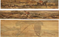 Books:Fore-edge Paintings, [Thomas Gosden, binder]. Thomas Campbell. Pair of hunting themed fore-edge paintings: Songs of the Chace... and ... (Total: 2 Items)