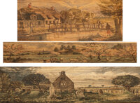[Unknown]. Samuel Rogers; James Macpherson. Group of Three Charming Fore-edge Paintings: The Pleasures of the M