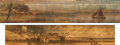 Books:Fore-edge Paintings, [Unknown]. Mark Akenside; James Thomson. Pair of Fore-edge Paintings of Bucolic Countryside Landscapes. Edinburgh; London: v... (Total: 2 Items)