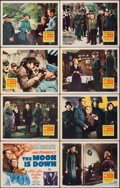 """Movie Posters:Drama, The Moon is Down (20th Century Fox, 1943). Very Fine. Lobby Card Set of 8 (11"""" X 14""""). Drama.. ... (Total: 8 Items)"""