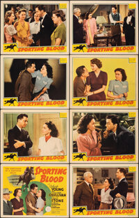 """Sporting Blood (MGM, 1940). Very Fine-. Lobby Card Set of 8 (11"""" X 14""""). Drama. ... (Total: 8 Items)"""