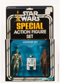 Memorabilia:Science Fiction, Vintage Star Wars 3-Pack Boxed Series 1 Android Action Figure Set (Kenner, 1978) Condition: AFA 80+ NM....