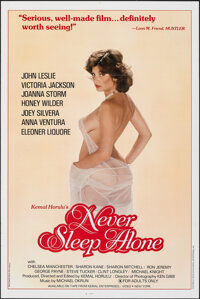 "Never Sleep Alone & Other Lot (Kemal Enterprises, 1983). Flat Folded, Very Fine+. One Sheets (2) (27"" X 41""..."