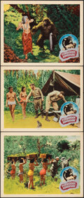 """Movie Posters:Exploitation, Gorilla Woman (United Screen Associates, 1937). Overall: Very Fine-. Lobby Cards (3) (11"""" X 14"""") Alternate Title: Forbidde... (Total: 3 Items)"""
