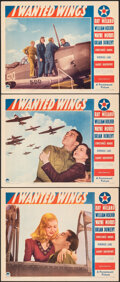 """Movie Posters:War, I Wanted Wings (Paramount, 1941). Very Fine+. Lobby Cards (3) (11"""" X 14""""). War.. ... (Total: 3 Items)"""