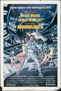 "Moonraker (United Artists, 1979). Folded, Overall: Fine. One Sheet (27"" X 41"") & Fold-Out Programs (3) (12..."