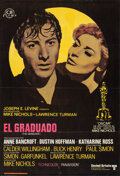 """Movie Posters:Comedy, The Graduate (United Artists, 1968). Folded, Fine+. Spanish One Sheet (27"""" X 39.5""""). Comedy.. ..."""