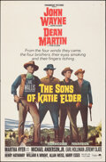"""Movie Posters:Western, The Sons of Katie Elder (Paramount, 1965). Folded, Very Fine-. One Sheet (27"""" X 41""""). Western.. ..."""