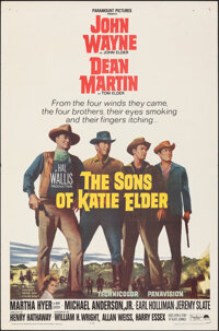 """The Sons of Katie Elder (Paramount, 1965). Folded, Very Fine-. One Sheet (27"""" X 41""""). Western"""