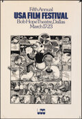 """Movie Posters:Miscellaneous, Fifth Annual USA Film Festival (USAFF, 1975). Rolled, Fine-. Film Festival Poster (22"""" X 34""""). Miscellaneous.. ..."""