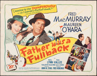 "Father Was a Fullback (20th Century Fox, 1949). Rolled, Fine. Half Sheet (22"" X 28""). Sports"
