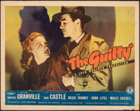 """The Guilty & Other Lot (Monogram, 1947). Rolled, Overall: Fine. Half Sheets (2) (22"""" X 28""""). Film Noir..."""