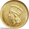 Three Dollar Gold Pieces: , 1854-O AU58 NGC. The current Coin Dealer Newsletter (...
