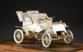 Silver & Vertu, American Silversmiths Guild Silver and Jeweled 1903 Ford Model A Commemorative Automobile Model with Wood and Acry...