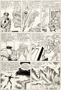Jack Kirby and Dick Ayers Strange Tales #109 Story Page 11 Human Torch Original Art (Marvel, 1963)