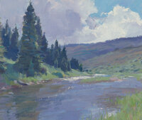 R.S. (Ronald Stephen) Riddick (American, b. 1952) Riversong, 2008 Oil on canvas laid on panel 10 x 12 inches (25.4 x
