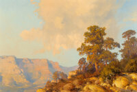 Rod Goebel (American, 1946-1993) Canyon Pines, 1978 Oil on canvas 28 x 42 inches (71.1 x 106.7 cm) Signed lower rig