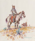 Works on Paper, Nick Eggenhofer (American, 1897-1985). The Scouts. Watercolor and pencil on paper. 14 x 11-3/4 inches (35.6 x 29.8 cm) (...