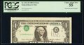 Error Notes:Inverted Third Printings, Inverted Third Printing Error Fr. 1913-E $1 1985 Federal Reserve Note. PCGS Choice About New 55.. ...