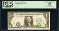 Error Notes:Shifted Third Printing, Shifted Third Printing Error Fr. 1913-F $1 1985 Federal Reserve Note. PCGS Apparent Choice About New 55.. ...