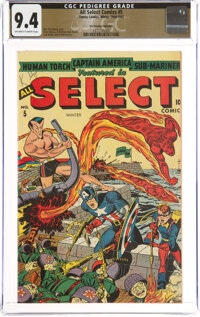 All Select Comics #5 The Promise Collection Pedigree (Timely, 1944) CGC NM 9.4 Off-white to white pages