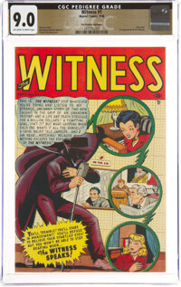 Witness #1 The Promise Collection Pedigree (Marvel, 1948) CGC VF/NM 9.0 Off-white to white pages