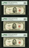Fr. 1532 $5 1953 Legal Tender Note. PMG Choice Uncirculated 64 EPQ; Fr. 1533 $5 1953A Legal Tender Note. PMG Ge