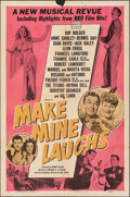 """Movie Posters:Musical, Make Mine Laughs (RKO, 1949). Folded, Fine+. One Sheet (27"""" X 41""""). Musical.. ..."""