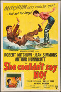 """Movie Posters:Comedy, She Couldn't Say No & Other Lot (RKO, 1954). Folded, Very Fine-. One Sheets (2) (27"""" X 41""""). Comedy.. ... (Total: 2 Items)"""