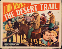 "The Desert Trail (Monogram, 1935). Rolled, Fine+. Half Sheet (22"" X 28""). Western"