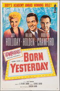 """Movie Posters:Comedy, Born Yesterday (Columbia, R-1961). Folded, Very Fine-. One Sheet (27"""" X 41""""). Comedy.. ..."""