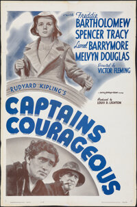 """Captains Courageous (MGM, R-1962). Folded, Fine+. One Sheet (27"""" X 41""""). Adventure"""