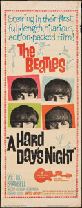 """Movie Posters:Rock and Roll, A Hard Day's Night (United Artists, 1964). Folded, Fine-. Insert (14"""" X 36""""). Rock and Roll.. ..."""