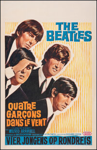 """A Hard Day's Night (United Artists, 1964). Very Fine- on Linen. Belgian (16.5"""" X 25.25""""). Rock and Roll"""