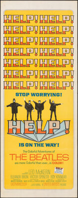 """Help! (United Artists, 1965). Folded, Fine/Very Fine. Insert (14"""" X 36""""). Rock and Roll"""