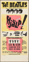 """Movie Posters:Rock and Roll, Help! (United Artists, 1965). Rolled, Fine+. Swedish Insert (12.5"""" X 27.5""""). Rock and Roll.. ..."""