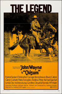 "Chisum (Warner Bros., 1970). Folded, Fine/Very Fine. One Sheet (27"" X 41""). Western"