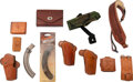 Arms Accessories:Holsters, Large Group of Shooting Accessories. Compr...