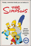 """Movie Posters:Animation, The Simpsons (Sky Television, 1990). Rolled, Fine. British Poster (15.75"""" X 23.25""""). Animation.. ..."""