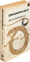 """Books:Science Fiction & Fantasy, Anne McCaffrey. Dragonflight. New York: Walker, [1968]. First hardcover edition of the first full-length """"Pern"""" nove..."""