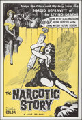 """Movie Posters:Exploitation, The Narcotic Story (Jolf, 1958). Folded, Very Fine-. One Sheet (28"""" X 41""""). Exploitation.. ..."""
