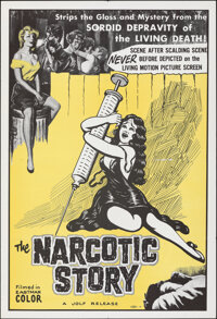 """The Narcotic Story (Jolf, 1958). Folded, Very Fine-. One Sheet (28"""" X 41""""). Exploitation"""